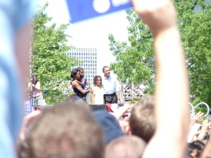 The Obama Family at the Waterfront in Portland, Oregon